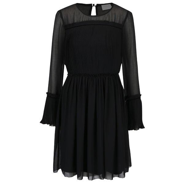 Rochie neagra cu maneci transparente VILA Vesper