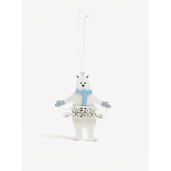 Decoratiune de agatat pentru Craciun in forma de urs polar cu mesaj - Sass & Belle