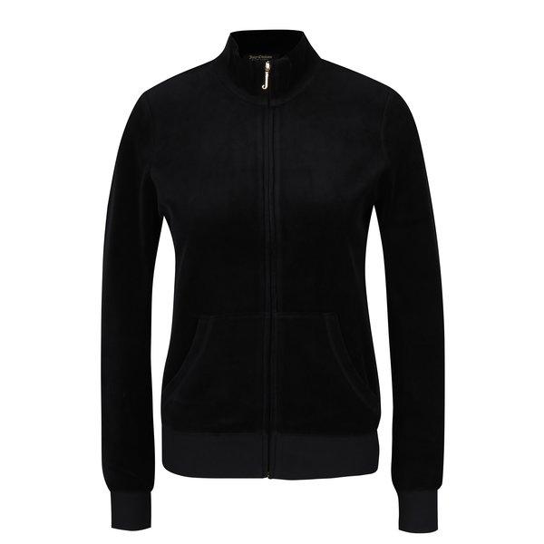 Bluza sport neagra cu guler inalt din catifea - Juicy Couture