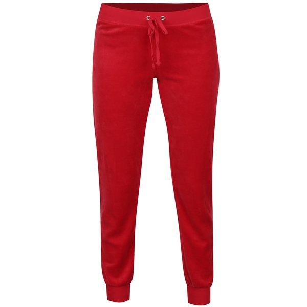 Pantaloni sport rosii din catifea - Juicy Couture