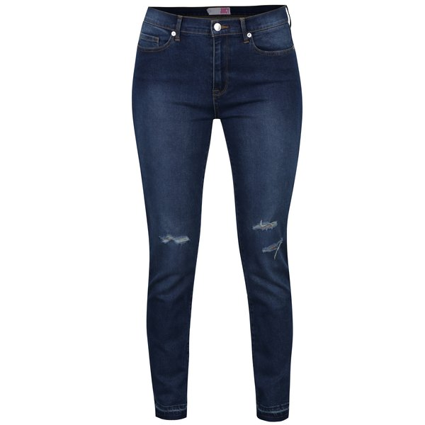 Blugi skinny albastri cu aspect uzat si prespalat - Juicy Couture