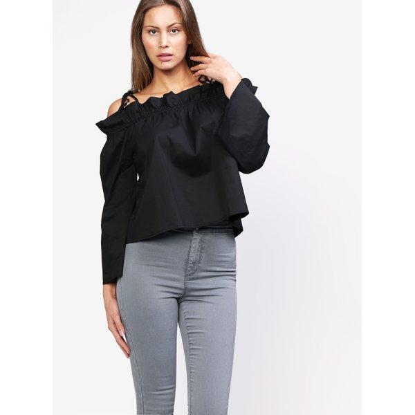 Bluza neagra cu decolteu pe umeri - MISSGUIDED