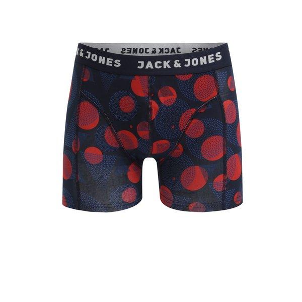 Boxeri rosu&albastru cu print - Jack & Jones Path