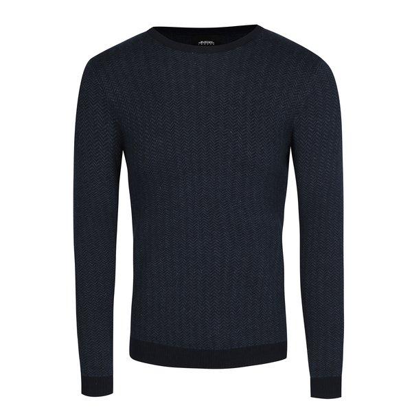 Pulover albastru cu model - Burton Menswear London