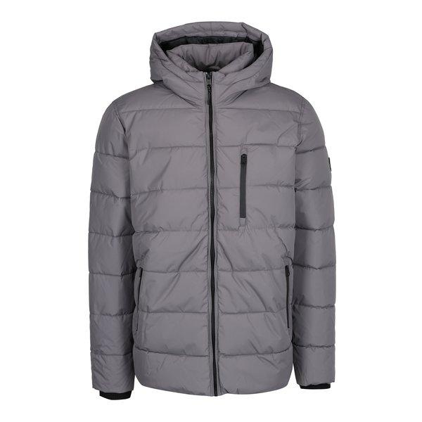 Geaca gri matlasata de iarna - Burton Menswear London