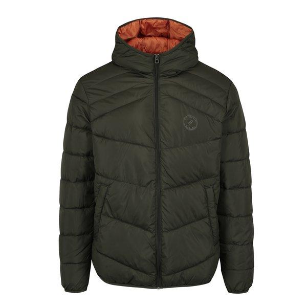 Jacheta verde inchis matlasata cu gluga – Jack & Jones Landing