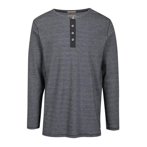 Bluza din bumbac negru & alb pentru barbati - Jack & Jones Giovanni