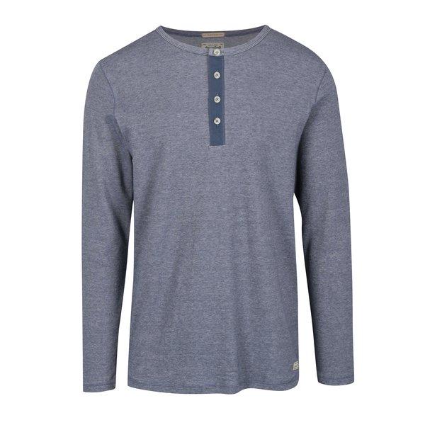 Bluza din bumbac bleumarin & alb pentru barbati - Jack & Jones Giovanni