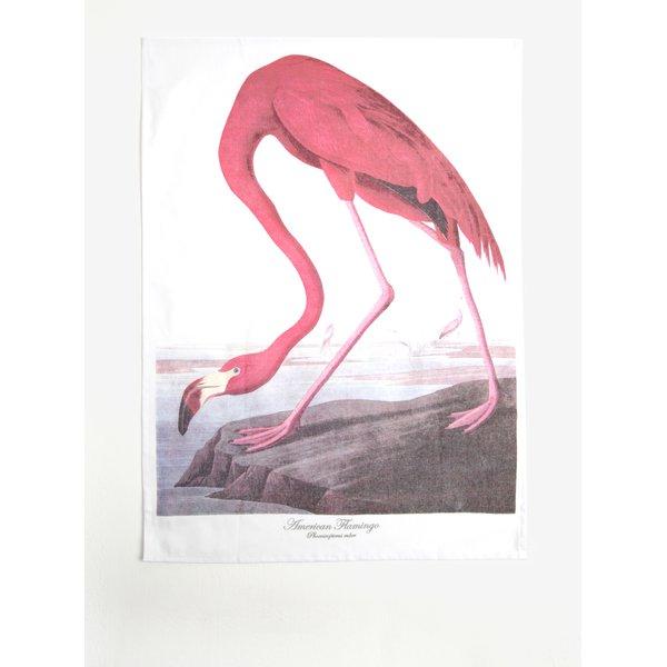Prosop de bucatarie alb&roz cu model flamingo - Magpie Flamingo
