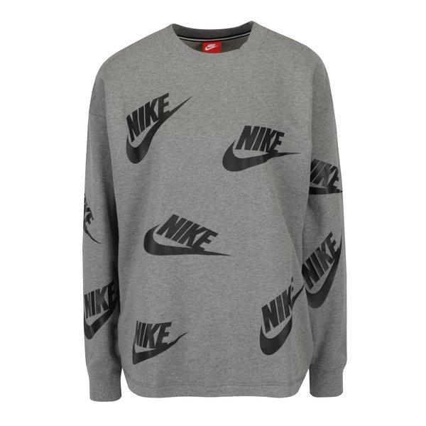 Bluza gri cu print pentru femei - Nike Sportswear