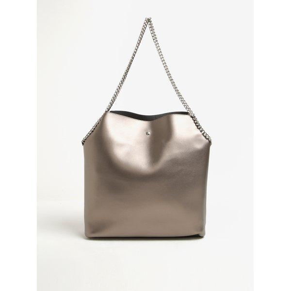 Geanta shopper gri - bronz metalic - Dorothy Perkins