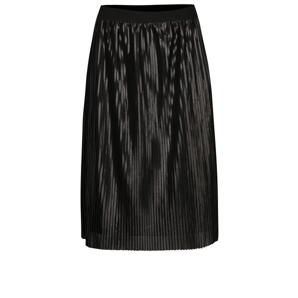Fusta plisata neagra cu aspect lucios ONLY Willemina