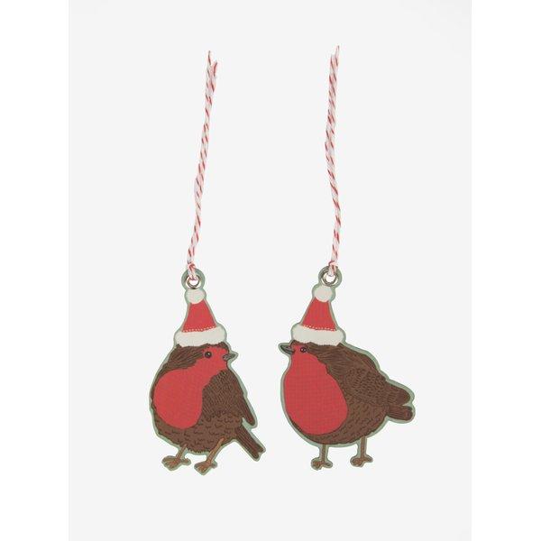 Set de 10 decoratiuni sub forma de pasari – Sass & Belle Christmas Robin