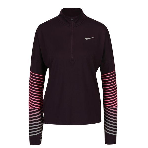 Bluza sport mov fermoar la gat pentru femei - Nike Element Flash