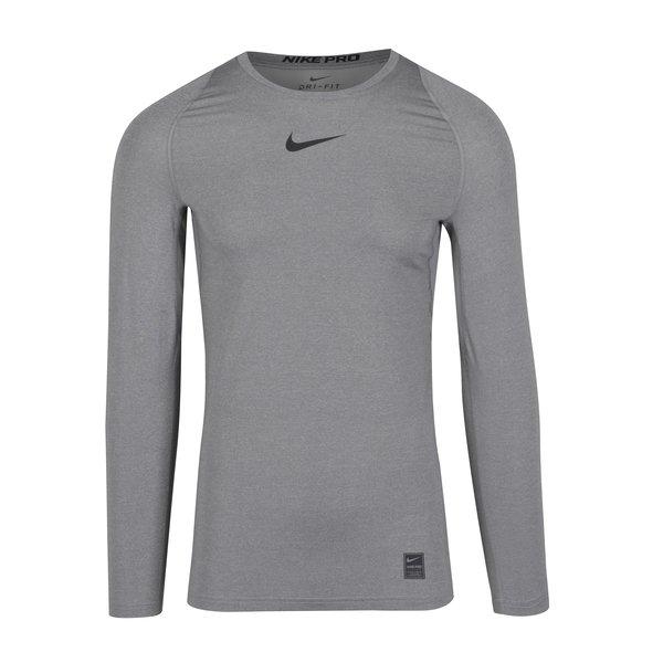 Bluza sport gri barbateasca pentru compresie Nike