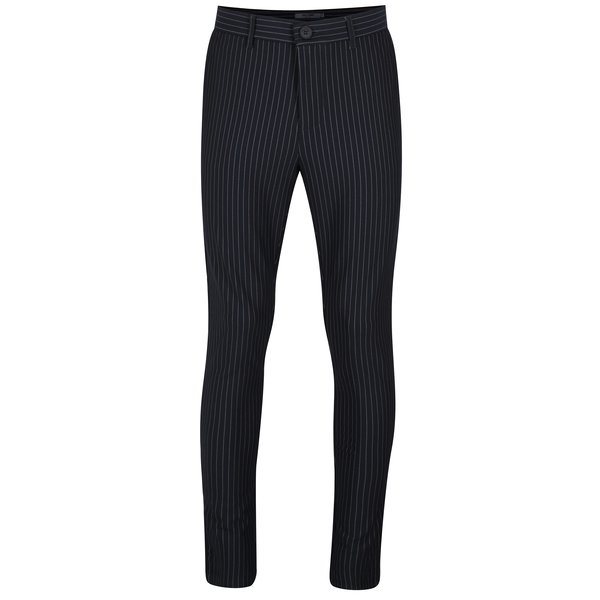 Pantaloni bleumarin cu model in dungi - ONLY & SONS Peer