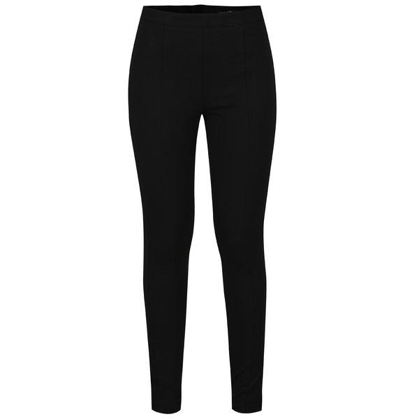 Pantaloni skinny negri cu talie inalta si fermoar la glezna ONLY Evie