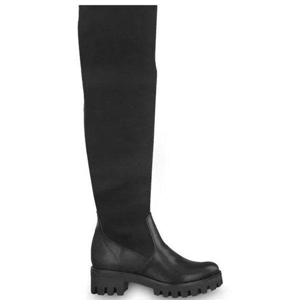 Cizme negre cu talpa inalta Tamaris