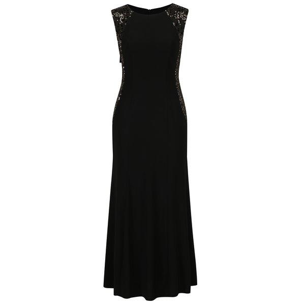 Rochie maxi neagra cu aplicatii decorative M&Co