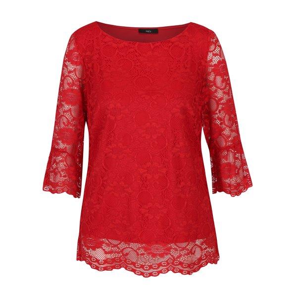 Bluza rosie din dantela cu maneci 3/4 M&Co
