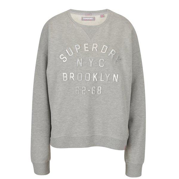 Bluza gri pentru femei - Superdry Embossed