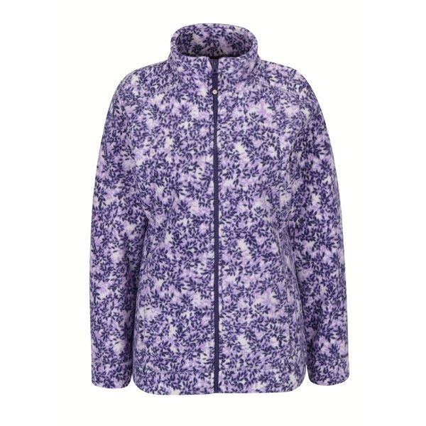 Jacheta din fleece violet&crem cu print floral M&Co