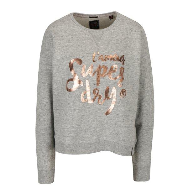 Imagine indisponibila pentru Bluza gri cu print pentru femei - Superdry Northern