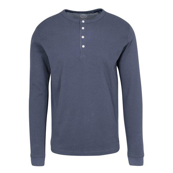 Bluza basic albastra cu nasturi Lindbergh