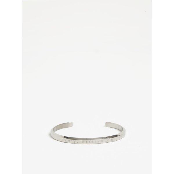 Bratara argintie din otel inoxidabil cu inscriptie - Daniel Wellington CLASSIC Cuff