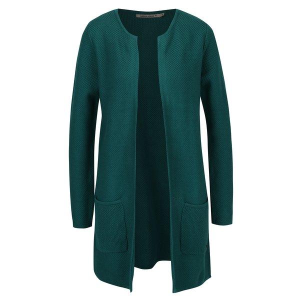 Cardigan verde petrol lung pentru femei Garcia Jeans