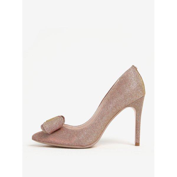 Pantofi roz prafuit & auriu cu toc - Ted Baker Azeline