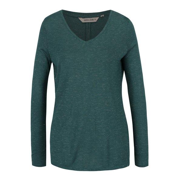 Bluza verde melanj pentru femei Garcia Jeans