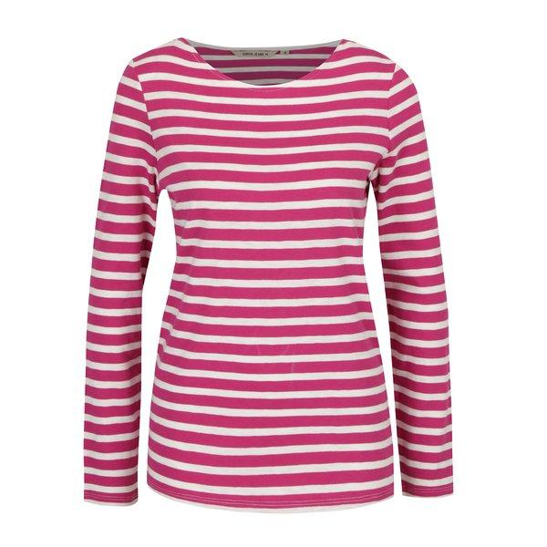 Bluza in dungi roz cu alb pentru femei Garcia Jeans