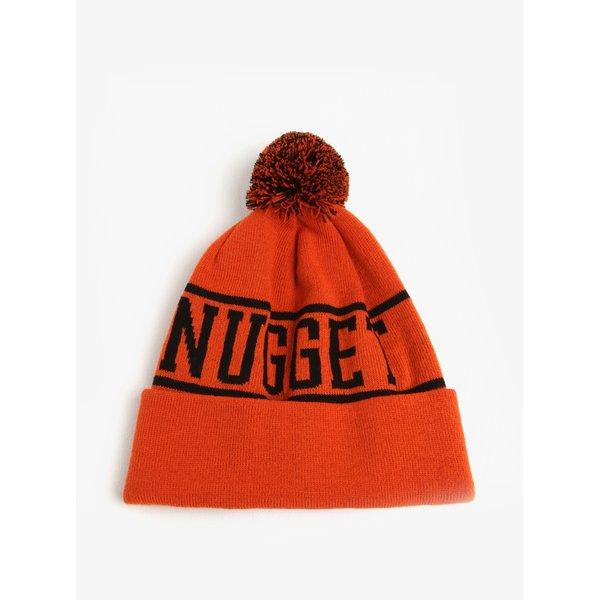 Caciula oranj cu pompon pentru barbati - Nugget Canister