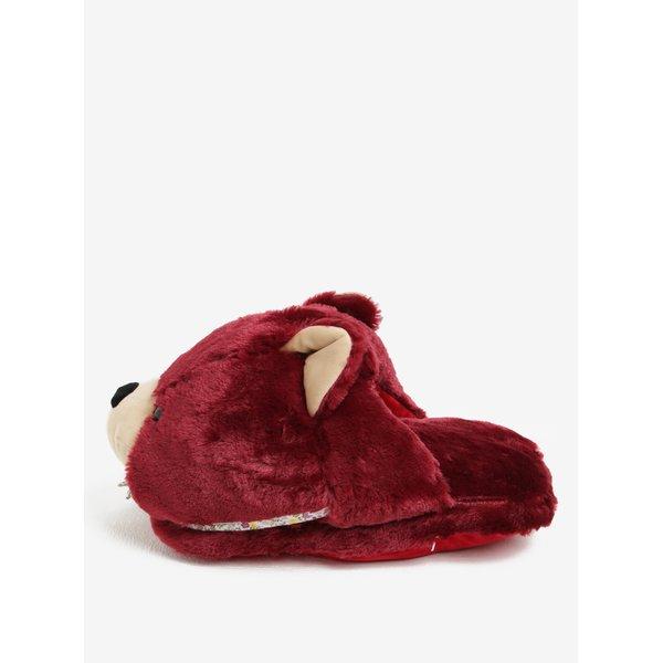 Papuci de casa bordo in forma de urs Something Special