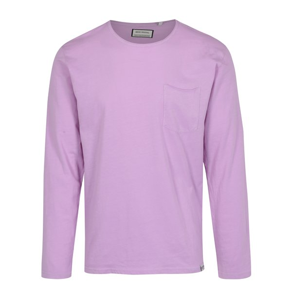 Bluza basic mov cu buzunar Shine Original