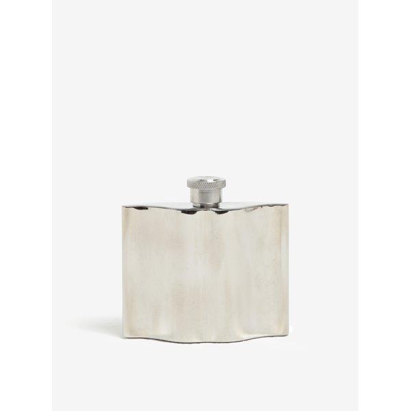 Sticla de buzunar argintie in forma de mustata de hipster - CGB