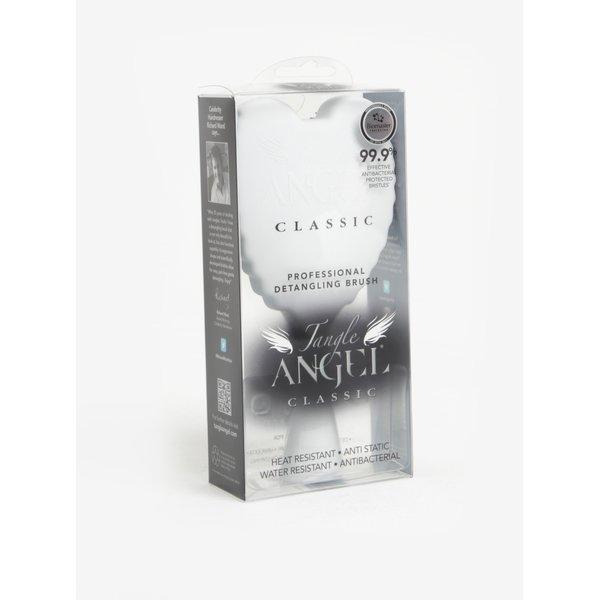 Perie de par alba cu model aripi de inger si text - Tangle Angel