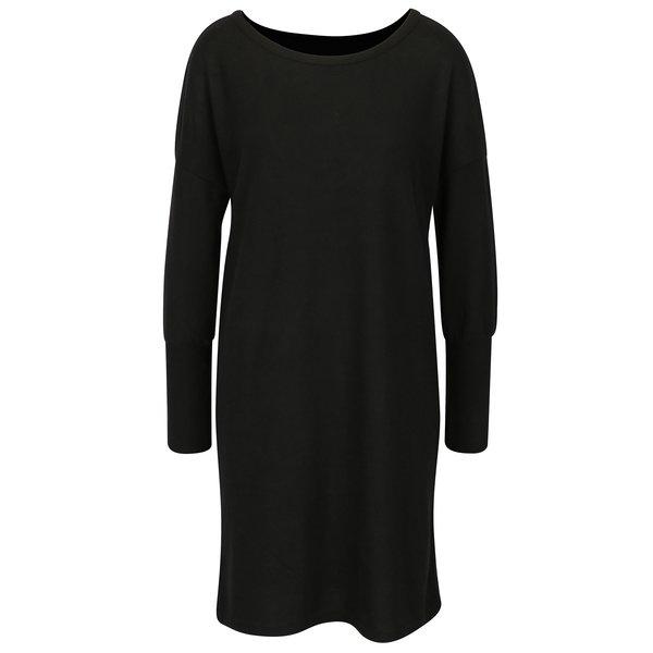 Rochie - pulover negra cu decupaj pe spate - Noisy May City