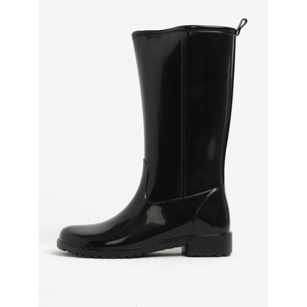 Cizme de ploaie inalte negre cu aspect lucios - OJJU