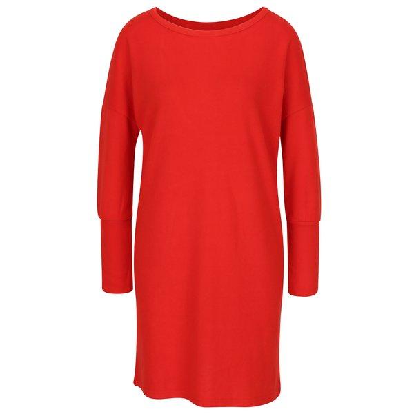 Rochie - pulover rosie cu decupaj pe spate - Noisy May City