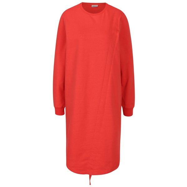 Rochie - pulover rosie cu tiv ajustabil - Noisy May Liam