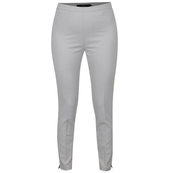 Pantaloni gri deschis cu talie inalta si fermoar lateral - VERO MODA Pitollo