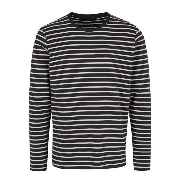 Bluza negru & alb cu print in dungi – SUIT Beagle