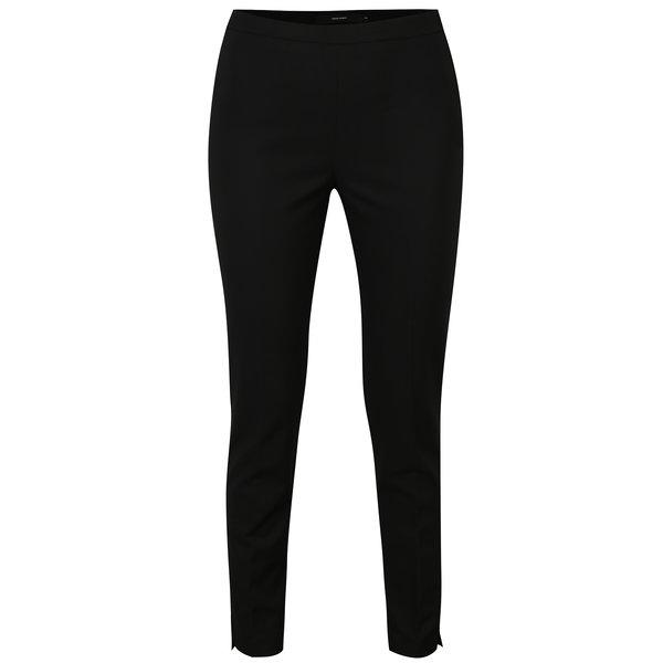 Pantaloni negri cu talie inalta si fermoar lateral - VERO MODA Pitollo