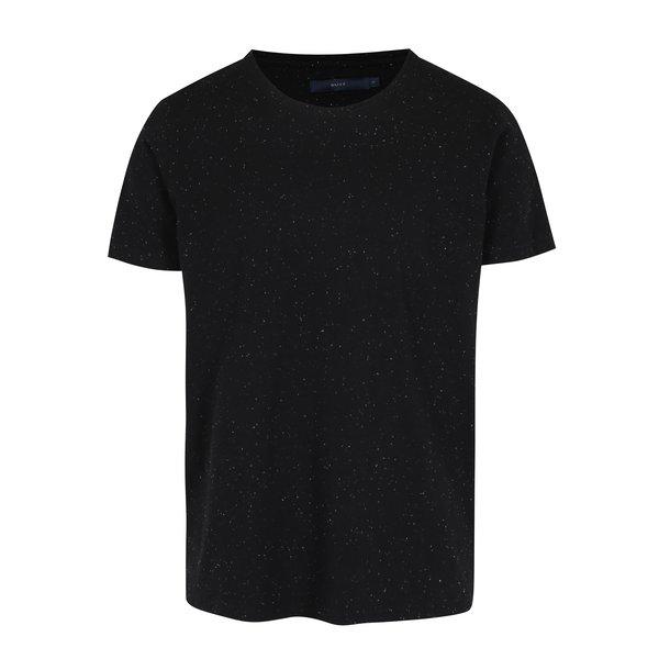 Tricou negru melanj - SUIT Halifax
