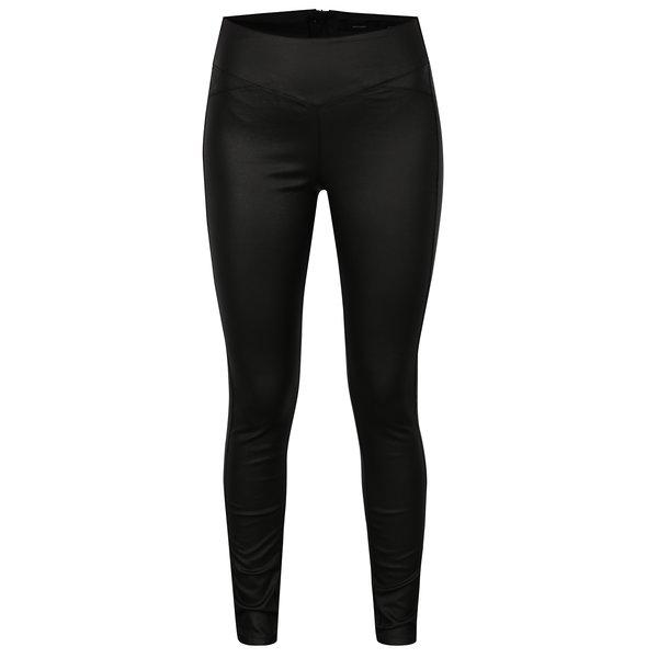 Pantaloni skinny negri cu talie inalta si fermoar la spate - VERO MODA Supreme