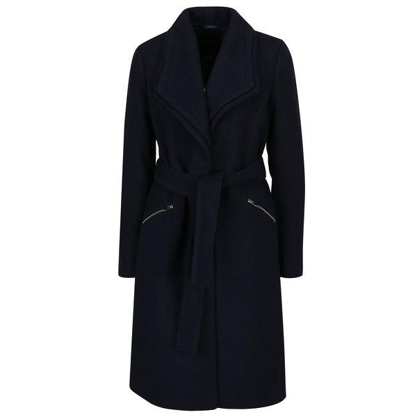 Palton bleumarin din amestec de lana si revere duble – VERO MODA Pisa