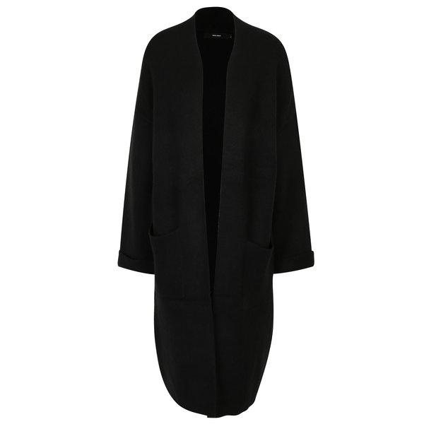 Cardigan lung negru cu buzunare - VERO MODA Campbell