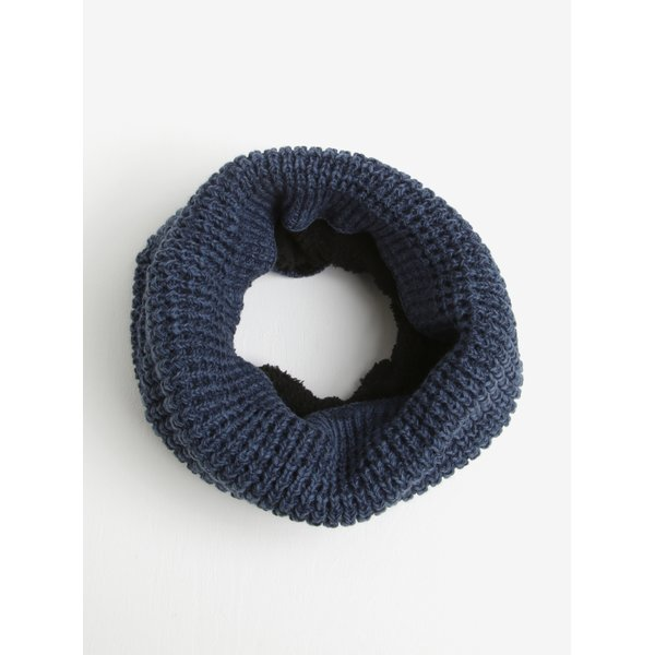 Fular circular tricotat bleumarin Blend